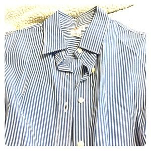 J Crew oxford striped button down